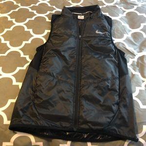 Black Nike Running Zip Vest Sz S